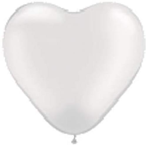 DM Balloon Company Balóny srdce v bílé barvì
